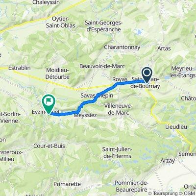 De 2 Rue de la Gervonde, Saint-Jean-de-Bournay à 7 Montfort, Eyzin-Pinet
