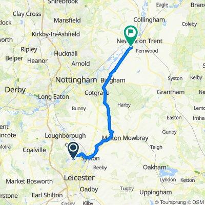 12 Lanesborough Dr, Leicester to 2–14 North End, Farndon, Newark