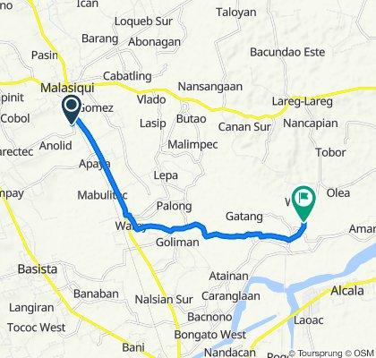 Malasiqui - Bayambang Road 151 to Bongar - Waig Brgy Road