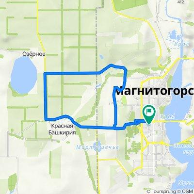 От улица Суворова 129, Магнитогорск до улица Суворова 129, Магнитогорск