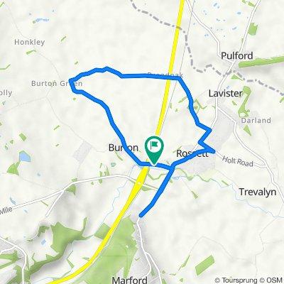 Bassett House, Station Road, Wrexham to Bassett House, Station Road, Wrexham
