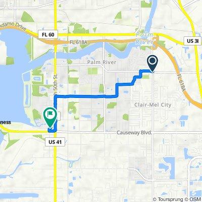 7800–7860 Palm River Rd, Tampa to 4904 El Camino Blanco Blvd, Tampa