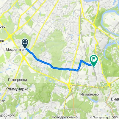 От улица Тёплый Стан, 7, Москва до Касимовская улица, 4, Москва