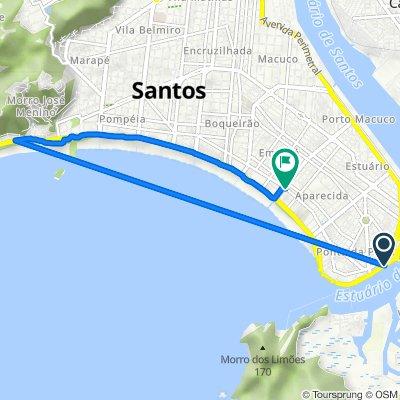 De Avenida Almirante Saldanha da Gama, 1886–1948, Santos a Avenida Doutor Epitácio Pessoa, 320, Santos