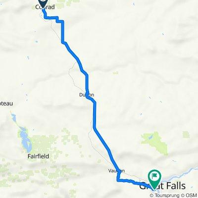 Day 7 Conrad, MT to Great Falls, MT