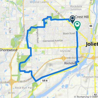 1313 Catherine St, Joliet to 829–867 Schriber Ave, Joliet