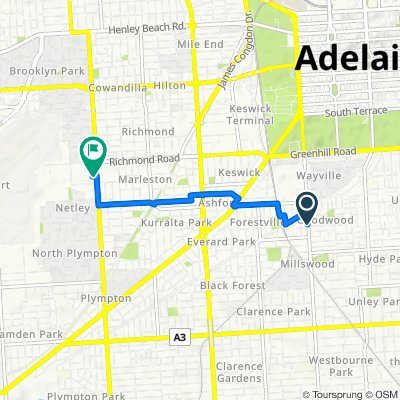Goodwood Road 144 to Stop 8G Marion Rd - West side, Netley