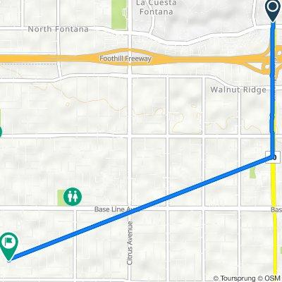 5804–5832 Sierra Ave, Fontana to 15425 Raymond Ave, Fontana