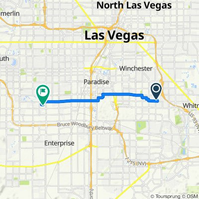 5192 S Sunnywood Dr, Las Vegas to 7100 W Dewey Dr, Las Vegas