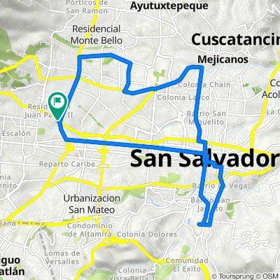 De Alameda Juan Pablo II, San Salvador a Alameda Juan Pablo II, San Salvador