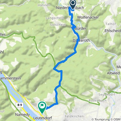 Unterer Kühpfad 6, Niederbreitbach nach Neuer Weg 10, Leutesdorf