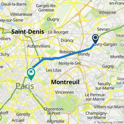 De 82 Avenue Gallieni, Livry-Gargan à 11–19 Boulevard du Temple, Paris