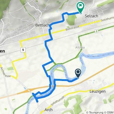 Route nach Brühlstrasse 14, Selzach