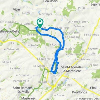 De Villermat, Beaussais-Vitré à Villermat, Beaussais-Vitré