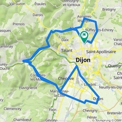 Tour de Dijon dénivelé