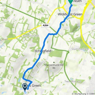 Sumners Ponds, Chapel Road, Horsham to 86 Shelley Dr, Horsham