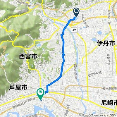 9丁目 6, 宝塚市 to  4, 西宮市