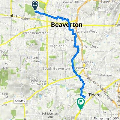Southwest Millikan Way 15655, Beaverton to SW Pacific Hwy & Gaarde/McDonald, Tigard