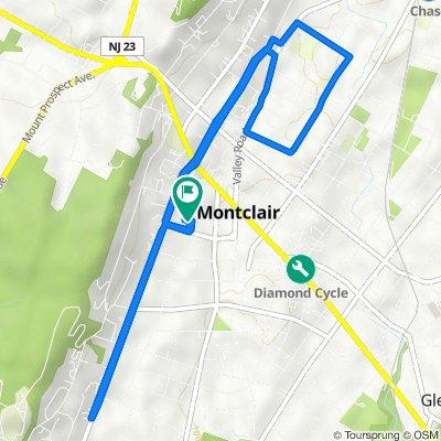 44 Saint Lukes Pl, Montclair to 46 Saint Lukes Pl, Montclair