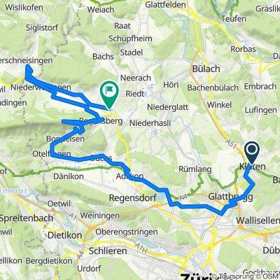Route von Rätschengässli 24, Kloten