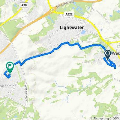 8 Rugosa Road, Woking to 30 Glassonby Walk, Camberley