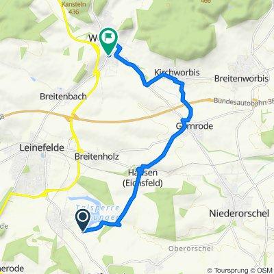 Ohnegrund, Kleinbartloff nach Medebacher Straße 2, Leinefelde-Worbis