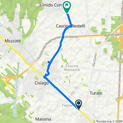 Da Via Varesina 4, Turate a Via Monte Grappa 30, Limido comasco