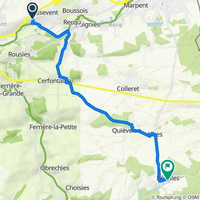 De Route de Boussois 2, Assevent à Rue du Mazy 1, Bérelles