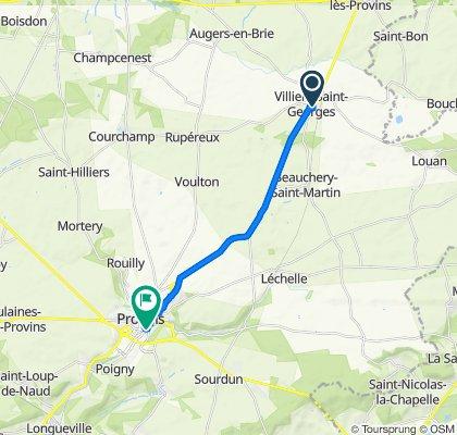 Itinéraire à partir de 20 Rue du Pont aux Dames, Villiers-Saint-Georges