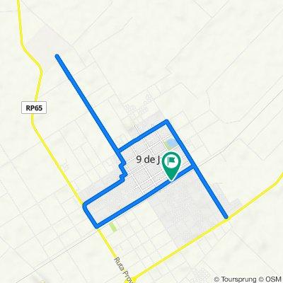 Ruta desde Hipólito Yrigoyen 101, DJA