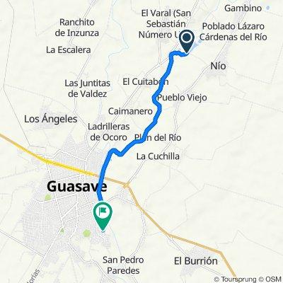 De Unnamed Road a Sinaloa 99, Guasave