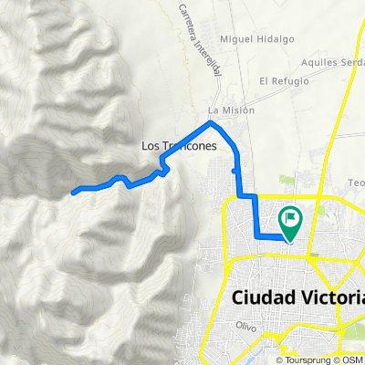 De Calle Manuel González 2823, Ciudad Victoria a Calle Manuel González 2826, Ciudad Victoria