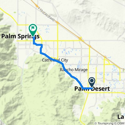 Route to N Civic Dr, Palm Springs
