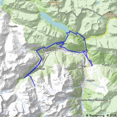 MTB: Bormio - Arnoga - Val Verva - Torri di Fraele - Boscopiano -Stelvio road - Bormio
