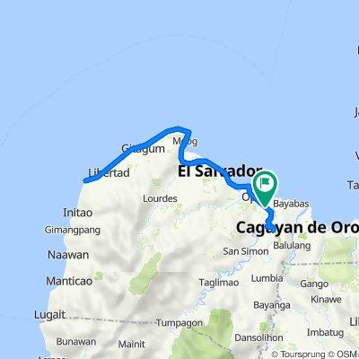 Claro M. Recto Avenue, Cagayan de Oro City to Claro M. Recto Avenue, Opol