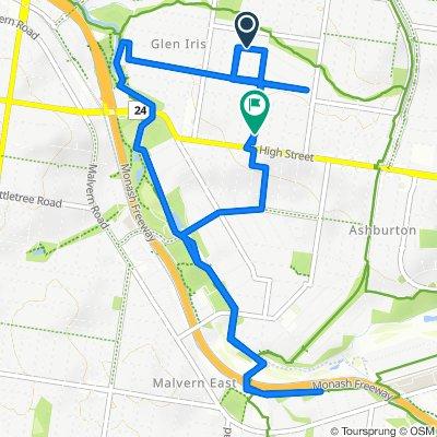 8 Flowerdale Road, Glen Iris to 6 Courang Road, Glen Iris