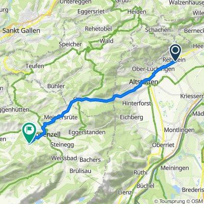 Wiesenstrasse 5, Rebstein nach Kaustrasse, Appenzell