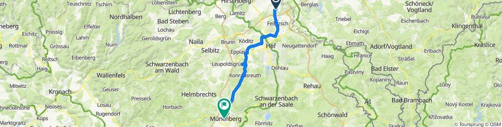 Zum Hänselstein 20, Feilitzsch nach Bahnhofstraße 1, Münchberg