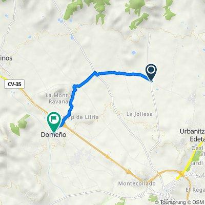 De CV-3380, Llíria a Calle Higueruelas, 2, Domeño