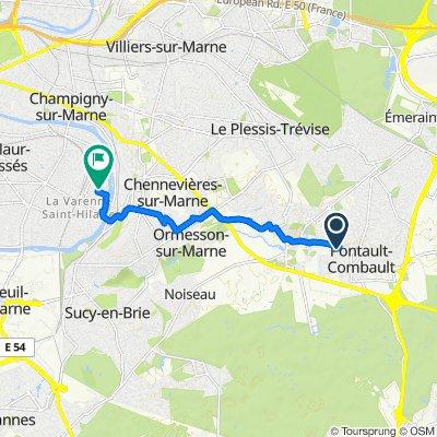 De 6 Rue Marcel Paul, Pontault-Combault à 50 Rue Georges Clemenceau, Saint-Maur-des-Fossés