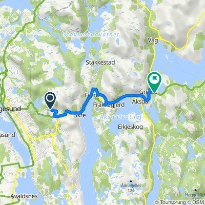 Tømmerdalen 80, Haugesund to Grovamyr 1, Aksdal