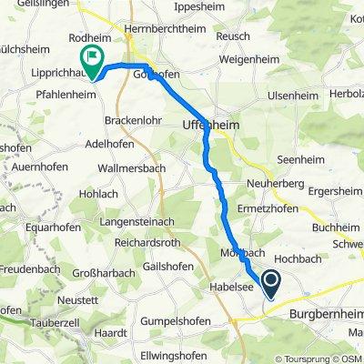 Lohrweg 3–7, Gallmersgarten nach Dorfstraße 16, Gollhofen