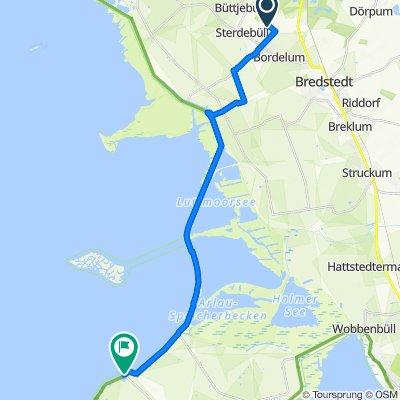 Route nach Norderhafen 22, Nordstrand