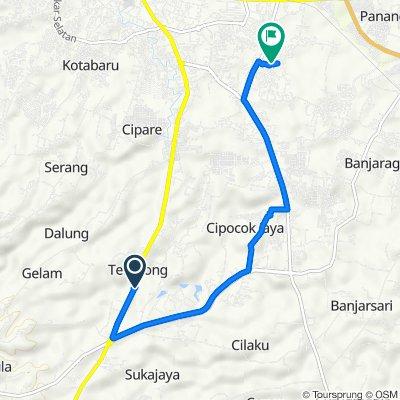 Jalan Raya Pandeglang, Kecamatan Curug to Jalan Perumahan Griya Serang Asri 11, Kecamatan Cipocok Jaya