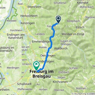 Bildsteinstraße 2A, Freiamt nach Am Seepark, Freiburg im Breisgau