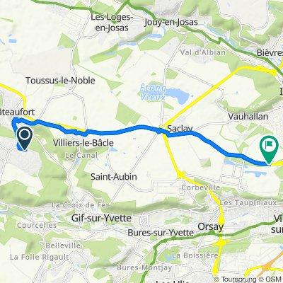 De 28 Rue Gabriel Péri, Magny-les-Hameaux à Route de Saclay, Palaiseau