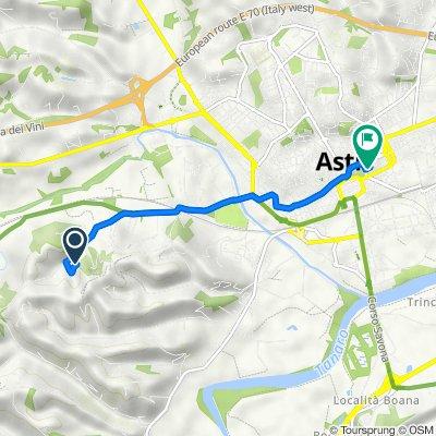 Da Località Vallarone 136, Asti a Via Montebruno 15, Asti