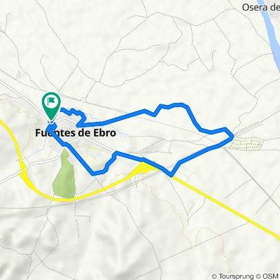 N-232a 14, Fuentes de Ebro to Paseo del Justicia 11, Fuentes de Ebro