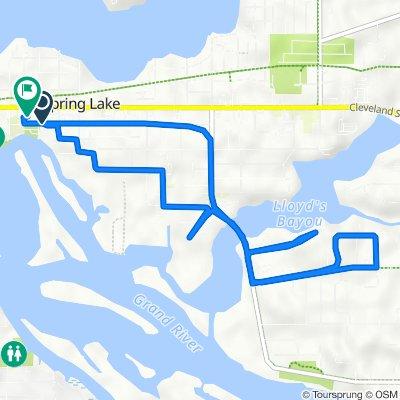 116 S Division St, Spring Lake to 108 S Park St, Spring Lake