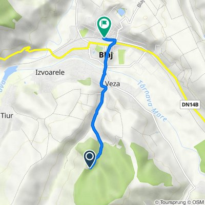 Route to Strada Doctor Vasile Suciu 12–23, Blaj